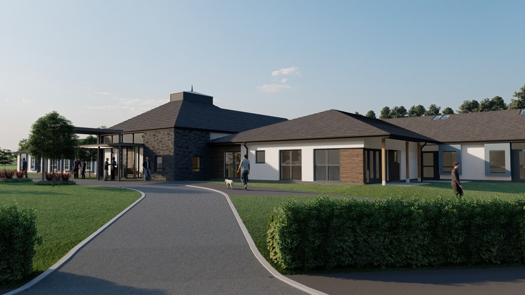 CGI Images of the new care home at Pitcrocknie Village